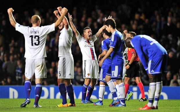 140-1 Basle Shock Chelsea In Champions League