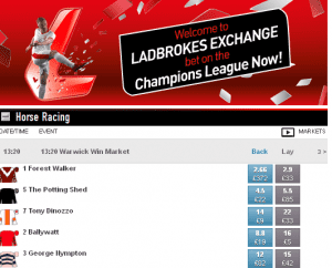 ladbrokes exchange now open