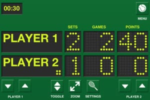 tennis scoreboard trading